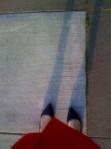 iphone gebruikster in Manhattan maakt foto van haar eigen voeten